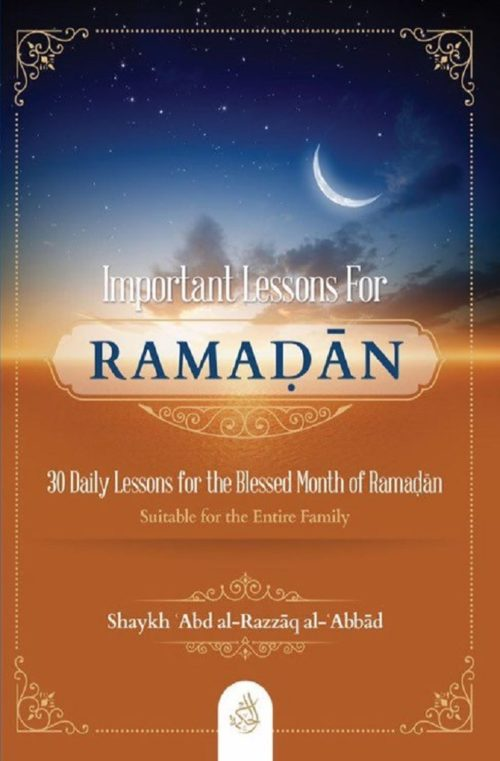 Important Lessons For Ramadan Front